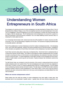 Understanding Women Entrepreneurs in South Africa